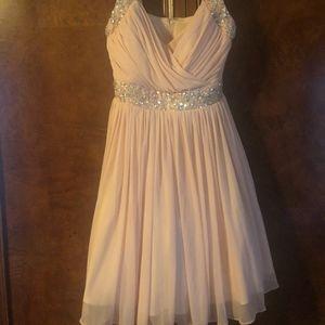 B. Darlin Juniors Blush Beaded Dress